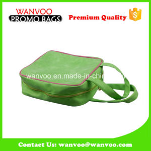 Gold Green Cotton Cosmetic Bag PU/PVC/Mesh Material pictures & photos