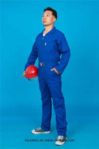 65% Polyester 35%Cotton Long Sleeve Safety High Quality Cheap Workwear Coverall (BLY1027) pictures & photos