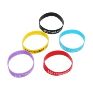 Wholesale Custom Silicone Rubber Wristband and Bracelet for Promotion pictures & photos