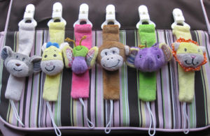 Custom Soother Holder Pacifier Clip Stuffed Toy pictures & photos