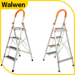 2016 Hotsale Domestic Foldable Portable Attic Ladder with Hand Rail pictures & photos