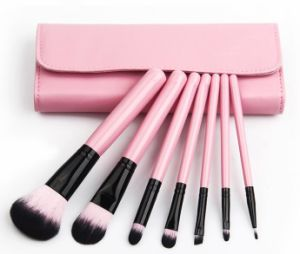 Pink Color 7PCS Travel portable Makeup Brush Kit pictures & photos