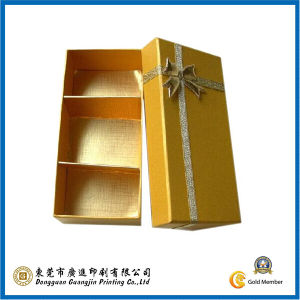 Hot-Stamping in Gold Chocolate Paper Packaging Box (GJ-607) pictures & photos