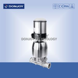 Sanitary Ss 316L Manual Rotary Diaphragm Valve Clamped Ends pictures & photos