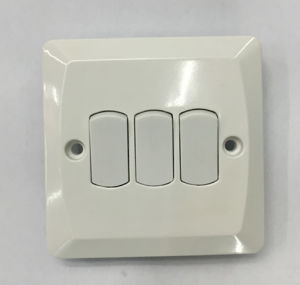 3 Gang 1way Plate Switch High Quality