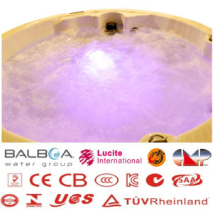 Romantic Circular Jacuzzi Round SPA Hot Tub with LED Lights pictures & photos