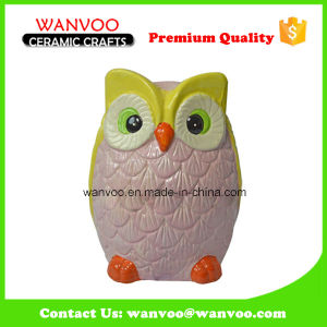 Owl Shape Ceramic Coin Bank Ceramic Statue Gift pictures & photos