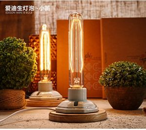 P7811 Bamboo Hanging Brown Rope Pendant Light with Edison Bulb Lamp pictures & photos