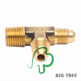 Brass Tee Flare Fitting/Connector, Material Ca377 pictures & photos