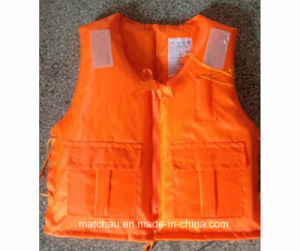Orange Cheap Nylon and Foam Work Life Jacket pictures & photos