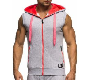 Cool Mens Fitness Sleeveless Hoodies with Custom Logo pictures & photos