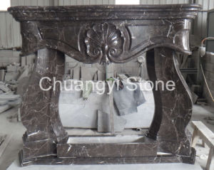 European Style Marble Fireplace for Interior Decoration