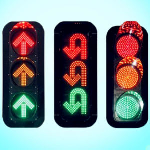 IP54 Red & Amber & Green Full Ball Traffic Light / Traffic Signal for U-Turn pictures & photos
