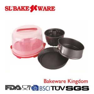 3 PCS Bakeware Sets W/Round Carrier Carbon Steel Nonstick Bakeware (SL BAKEWARE) pictures & photos