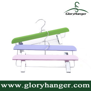 Rubber Coated / Velvet Bottom Hanger for Shop Fitting- Plastic (GLPH24) pictures & photos