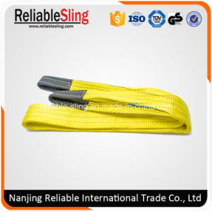 Price 3 Ton Polyester Flat Duplex Lifting Belt Sling with Eyes pictures & photos