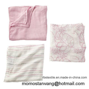 Muslin Baby Blanket with Printing Designs pictures & photos