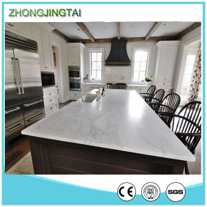 White Calacatta Artificial Quartz Stone Countertop for Bathroom and Kitchen pictures & photos