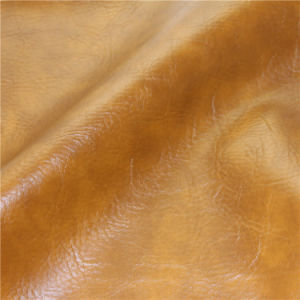 High Abrasion-Resistant Waterproof Furniture Burnished PVC Leather for Used Sofa pictures & photos