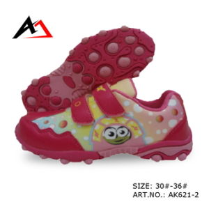 Walking Sports Shoes Comfort Carton Printing Footwear for Children (AK621-2) pictures & photos