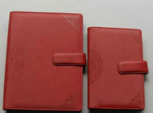 Waterproof Design Red Leather Diary pictures & photos