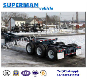 40FT Gooseneck Skeletal Frame Container Semi Utility Trailer pictures & photos