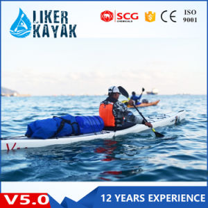 Top Quality Single Seat Plastic Hull Sea Rowing Kayak for Sale pictures & photos