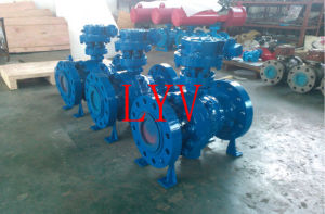 API Pneumatic Trunnion Mounted Stainless Steel Ball Valve pictures & photos