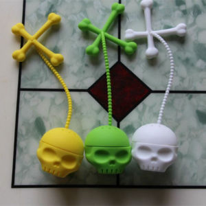 New Style Fancy Creative Skull Shape FDA Silicone Tea Infuser pictures & photos