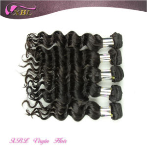 Double Weft Soft and Strong Raw Indian Natural Hair Extensions pictures & photos