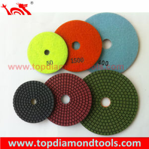 Angle Grinder Wet Flexible Granite Marble Diamond Polishing Pad pictures & photos