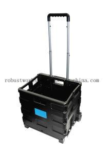 Folding Plastic Shopping Cart (FC401KP-1) pictures & photos