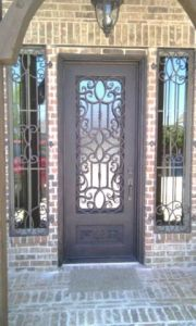 Wrought Iron Single Doors with Operable Flemish Glass Frame (UID-S066) pictures & photos