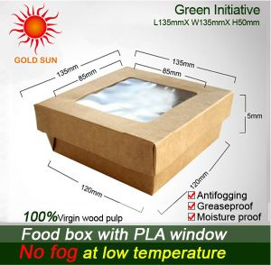 Square Fast Food Box with Window pictures & photos