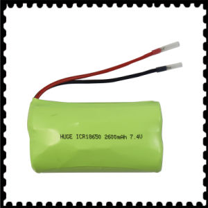 Lithium Battery Icr18650 7.4V 2600mAh pictures & photos