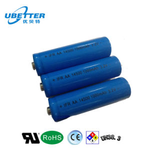 Ifr 14500 3.2V1000mAh LiFePO4 Battery Cell pictures & photos