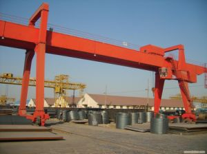 a Model Trussed Single Girder Gantry Crane with Electric Hoist pictures & photos
