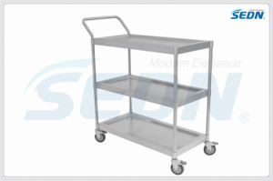 Handmade Commercial Stainless Steel Three Tier Trolley (CZ005S) pictures & photos