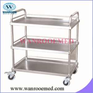 Bss300/301 Three Layer Stainless Steel Instrument Trolley pictures & photos