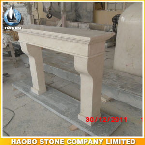 Polished Stone Fireplace Surround for Sale Beige pictures & photos