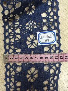 Cotton Lace with Weaving, Customized Width and Color. pictures & photos