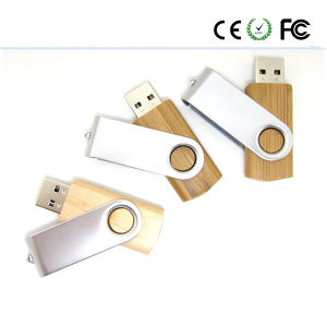 Wooden Classic Rotating USB 2.0 Flash Memory Stick Drive pictures & photos