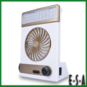 2015 Hot Sale Solar Multi-Function Fan Lights, Best Quality Solar Powered Fan, Rechargeable Emergency Light with Fan G21A105 pictures & photos