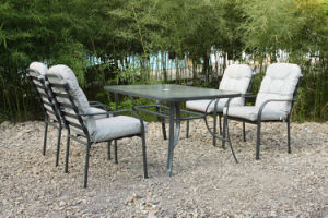 Coffee Table and 4 Chairs Hotel Dining Outdoor Furniture (FS-4020+5105) pictures & photos