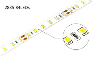 High Quality 84LEDs/M Flexible DC24V SMD 2835 LED Strips pictures & photos
