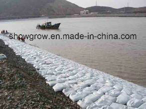 Non Woven Geobag Ecological Bag White02, Qualified Material Suppliers of Water Cube Nest and South-to-North Water Transfer Project.