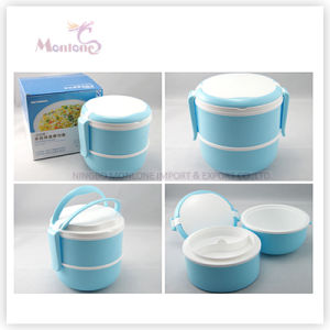 Double-Layer Food Grade Plastic Thermal Lunch Box pictures & photos