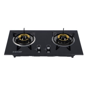 2-Burner Tempered Glass Top Stainless Steel Gas Cooker/Gas Stove pictures & photos