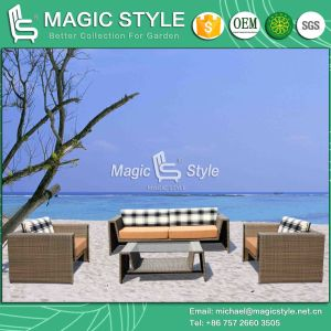 Viro Wicker Sofa Set Garden Wicker Furniture Patio High Quality Sofa Rattan 3-Seat Sofa pictures & photos