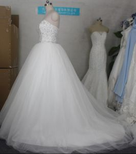 Stock Bridal Ball Gowns A-Line Beads Real Photos Wedding Dresses Z2045 pictures & photos